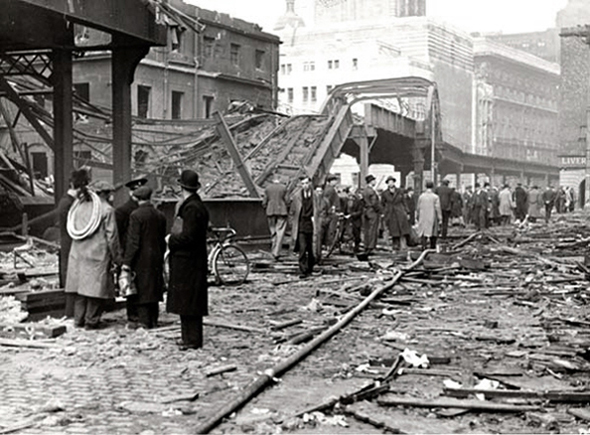 overhead railway blitz damage james street
