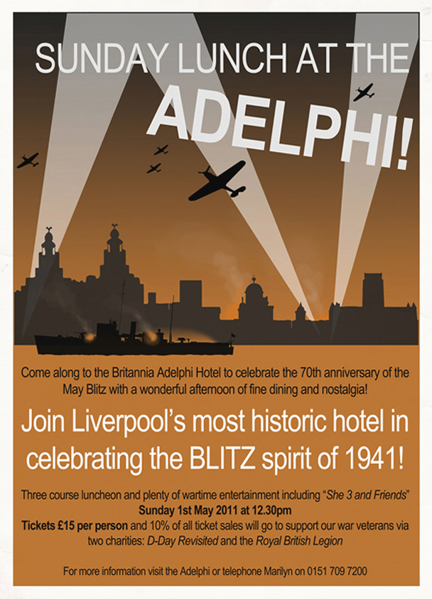 blitz themed lunch adelphi hotel liverpool