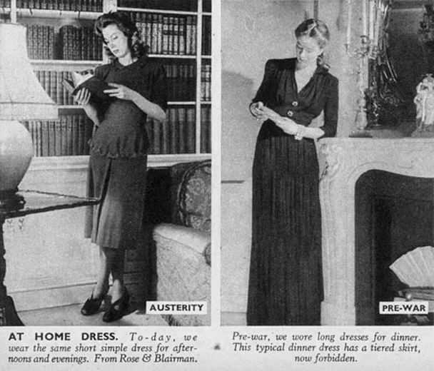 1940s austerity at home dress