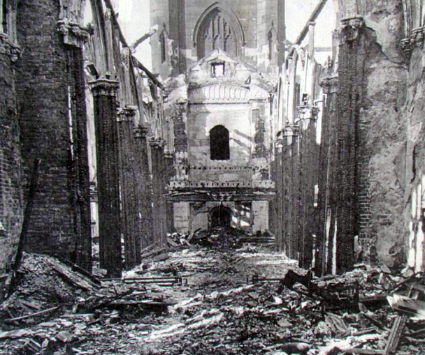 st luke's church bomb damage